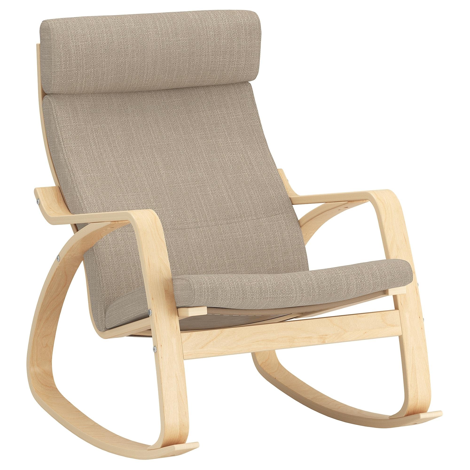 Popular Poäng Rocking Chair Birch Veneer/hillared Beige – Ikea Within Ikea Rocking Chairs (View 9 of 15)