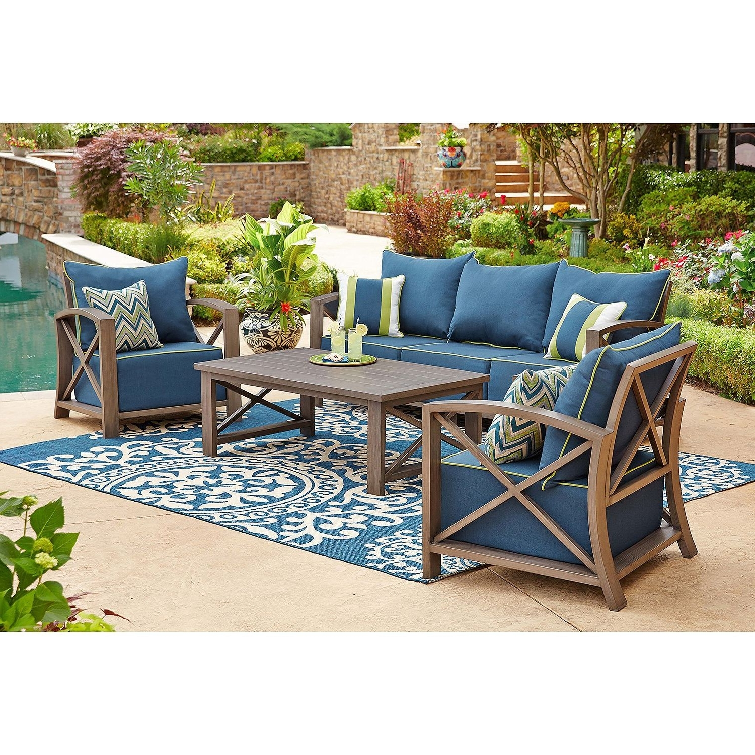 Popular Practical Sam S Club Outdoor Patio Furniture Appealing Replacement Inside Patio Conversation Sets At Sam's Club (View 14 of 15)