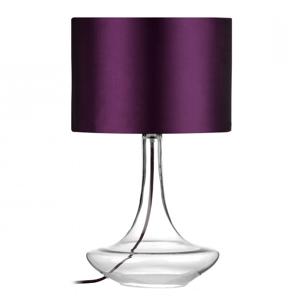 Popular Purple Living Room Table Lamps With Regard To Lamp : Table Lamps Purple Living Room Cordless Glass Vintage Lamp (View 9 of 15)
