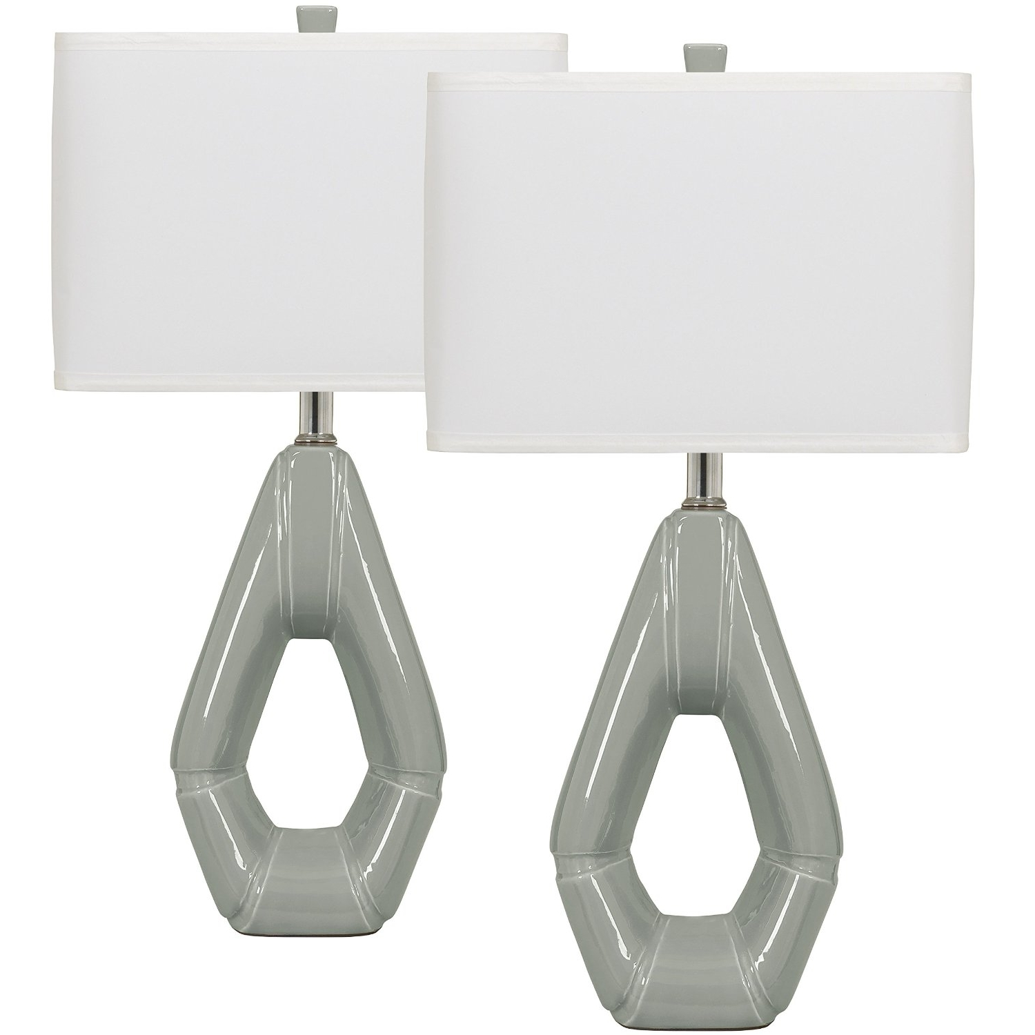 Popular Set Of 2 Living Room Table Lamps Pertaining To Modern Living Room Table Lamp Set Grey Ceramic Table Lamp Set Of  (View 15 of 15)