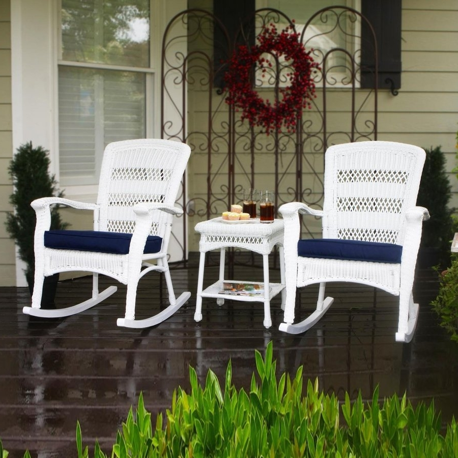 Popular Shop Tortuga Outdoor Portside 3 Piece Wicker Frame Patio With Patio Conversation Sets With Rockers (View 14 of 15)