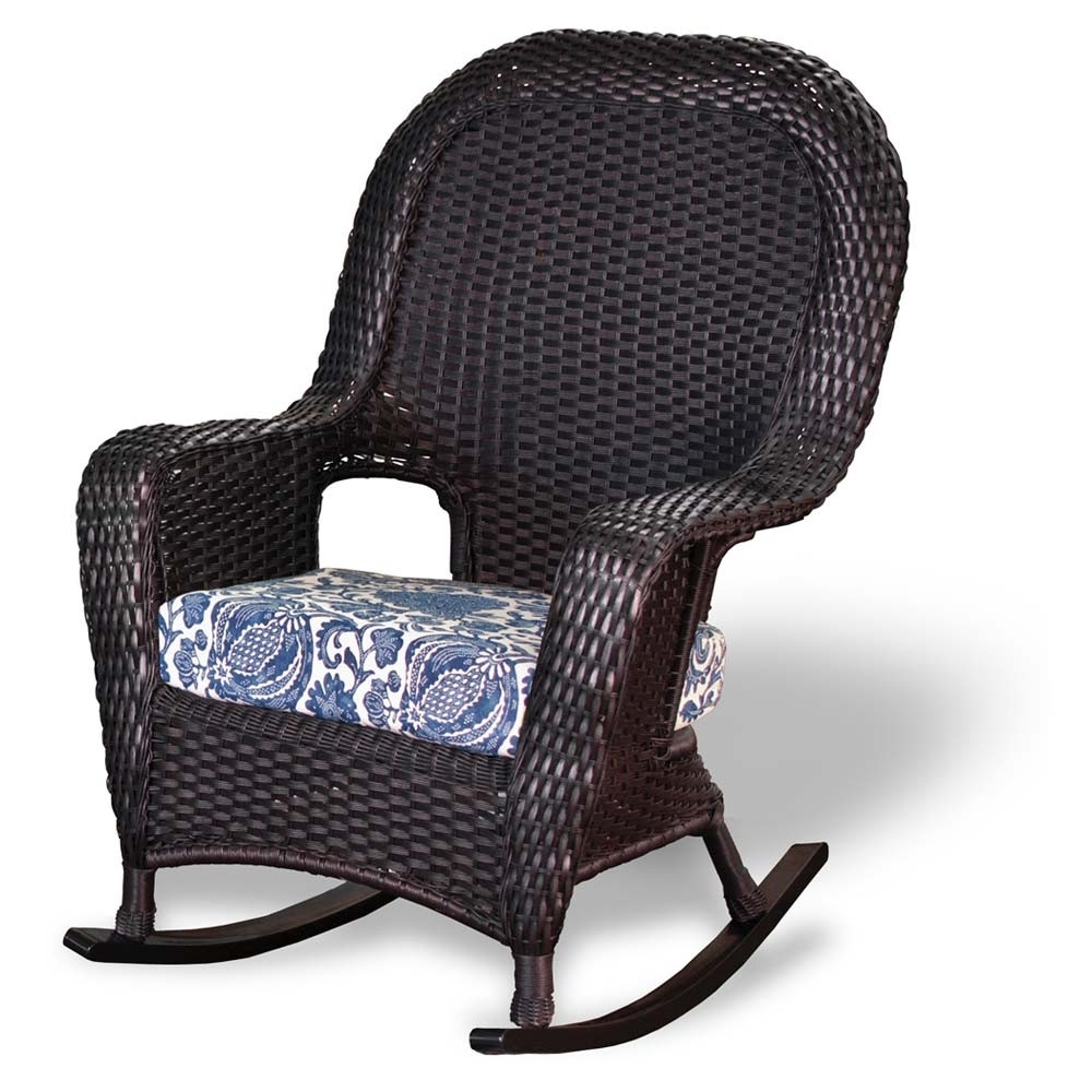 Popular Tortuga Outdoor Lexington Wicker Rocker – Wicker Inside Outdoor Wicker Rocking Chairs (View 12 of 15)
