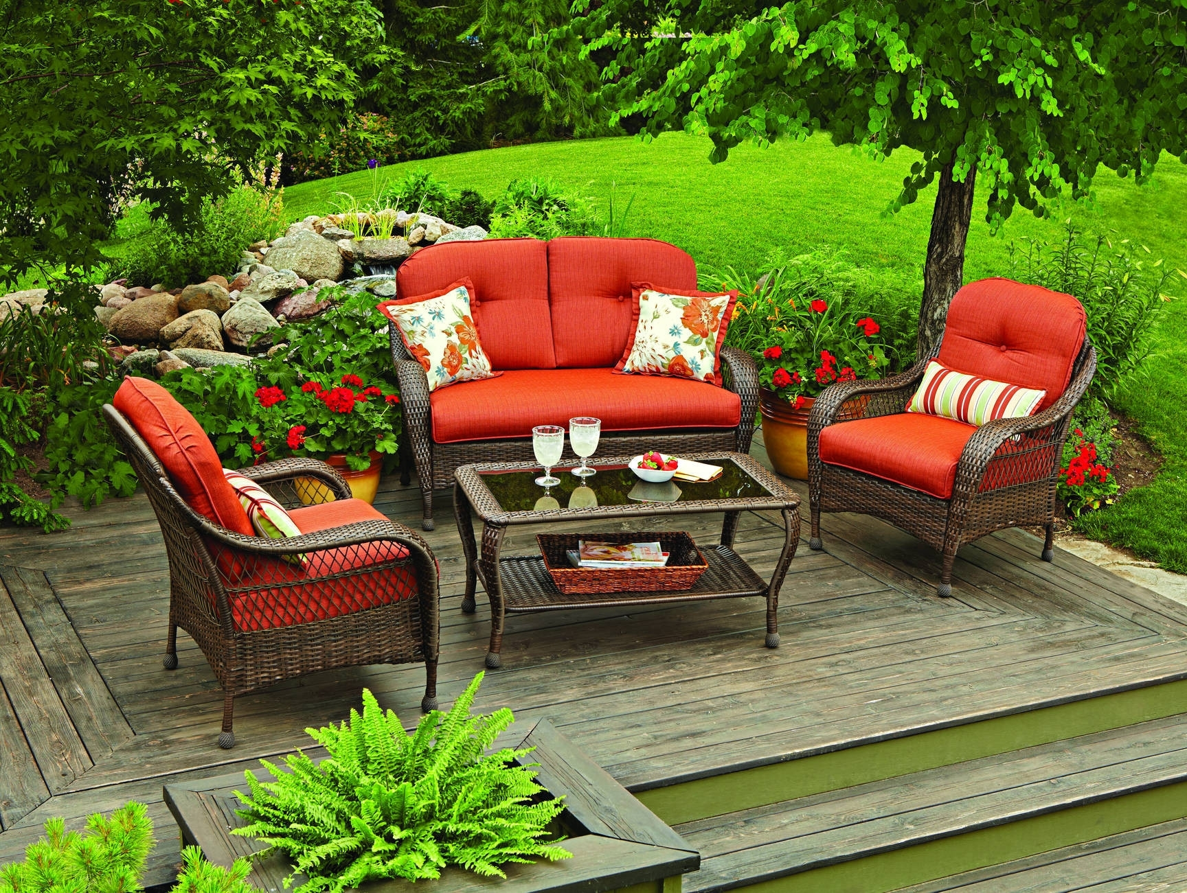 Popular Wood Patio Furniture Conversation Sets Throughout Chair Unusual Wooden Patio Chairs Chunky Wooden Garden Furniture (View 15 of 15)