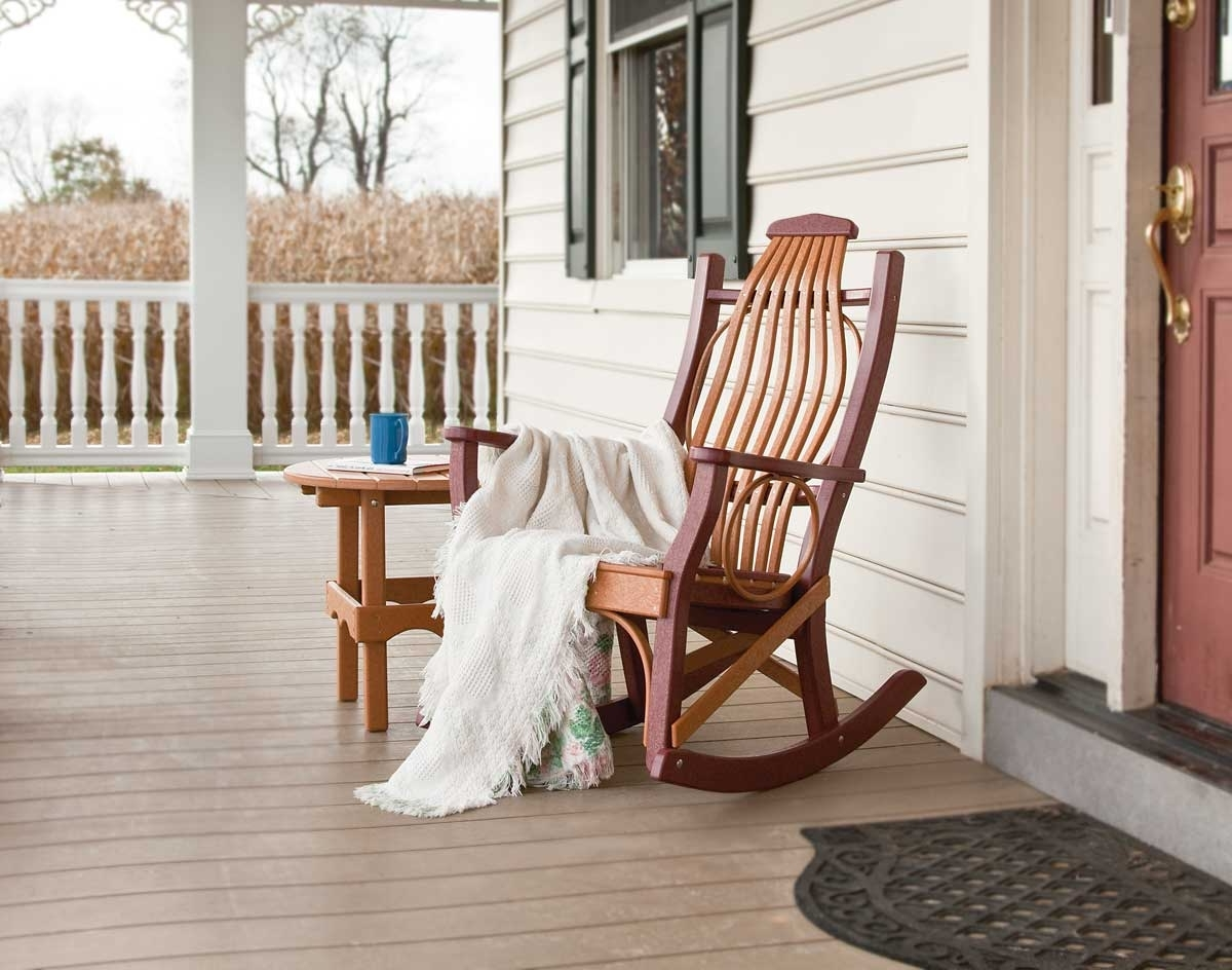 Porch Rocking Chair Ideas — Wilson Home Ideas : Vintage Porch Pertaining To Fashionable Rocking Chairs For Porch (View 5 of 15)