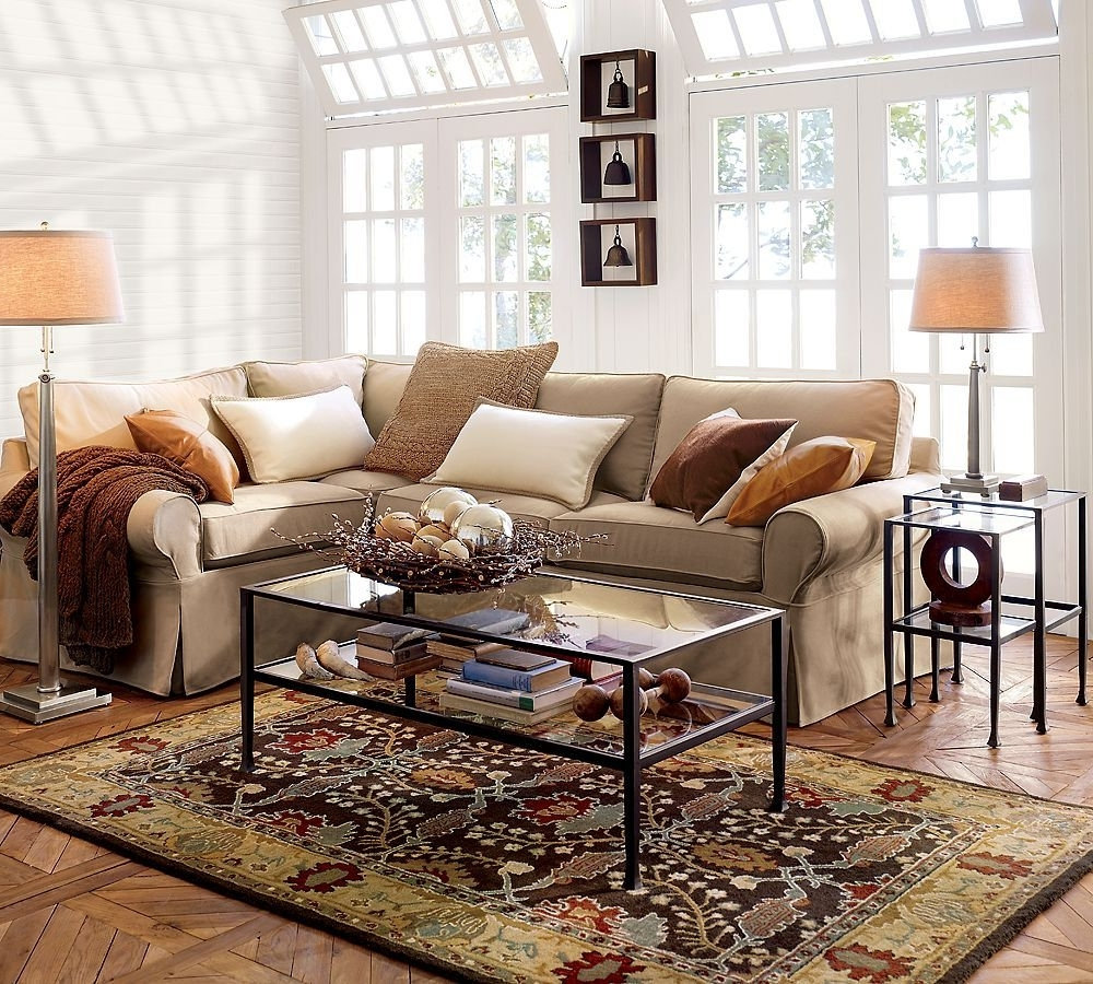 Pottery Barn Table Lamps For Living Room For Famous Pottery Barn Living Room With Glass Table And Table Lamp (View 8 of 15)