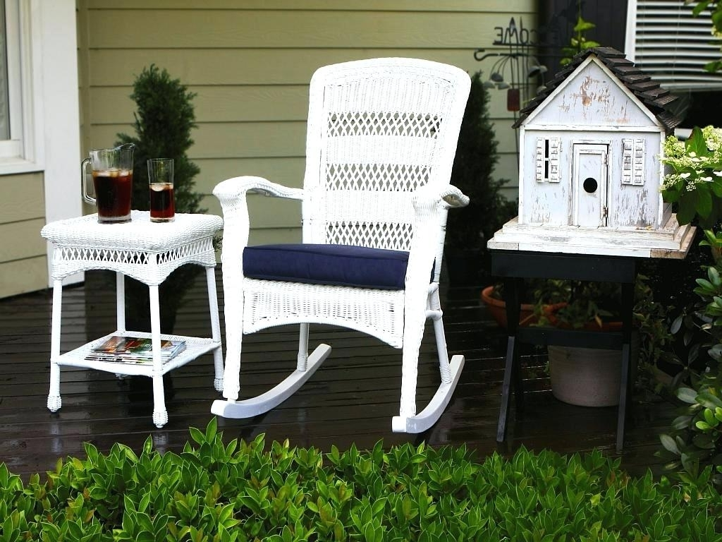 Preferred All Weather Patio Rocking Chairs Inside Outdoor Wicker Rocking Chairs Recliner Chair Interiors 21095Rc All (View 12 of 15)