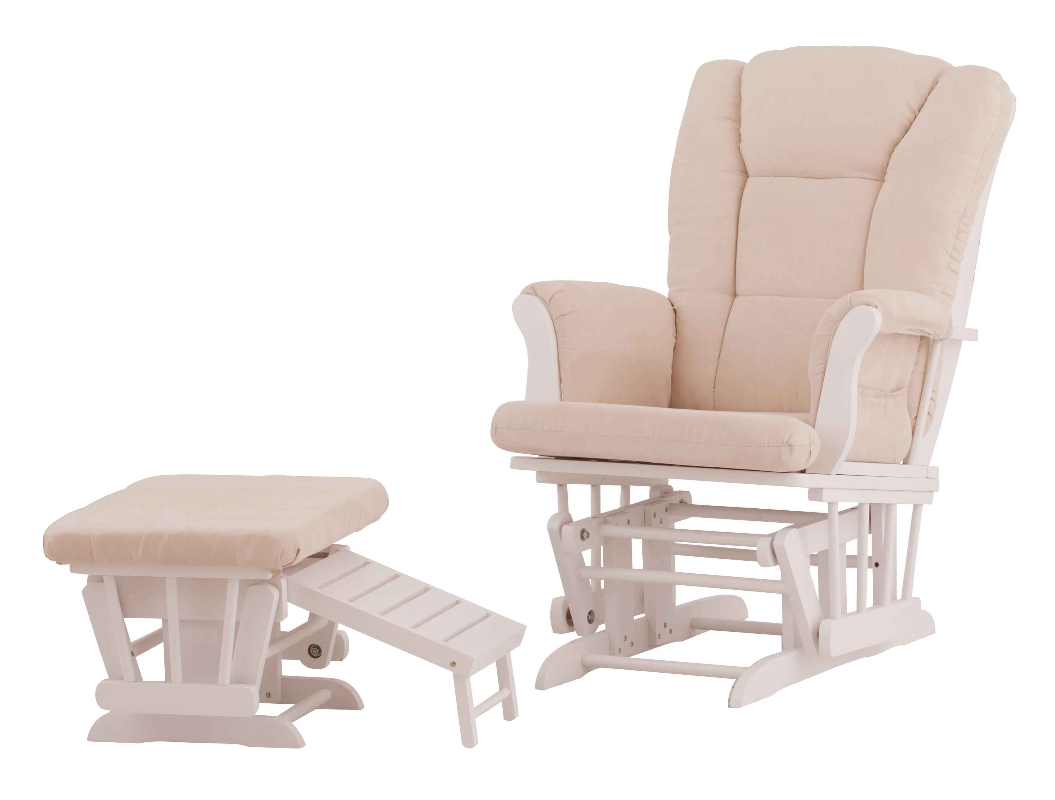 Preferred Amazon: Status Veneto Glider And Nursing Ottoman, White/beige: Baby Regarding Amazon Rocking Chairs (View 11 of 15)