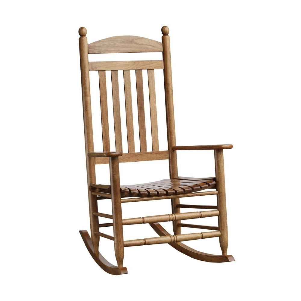 Preferred Bradley Maple Slat Patio Rocking Chair-200Sm-Rta - The Home Depot intended for Patio Rocking Chairs