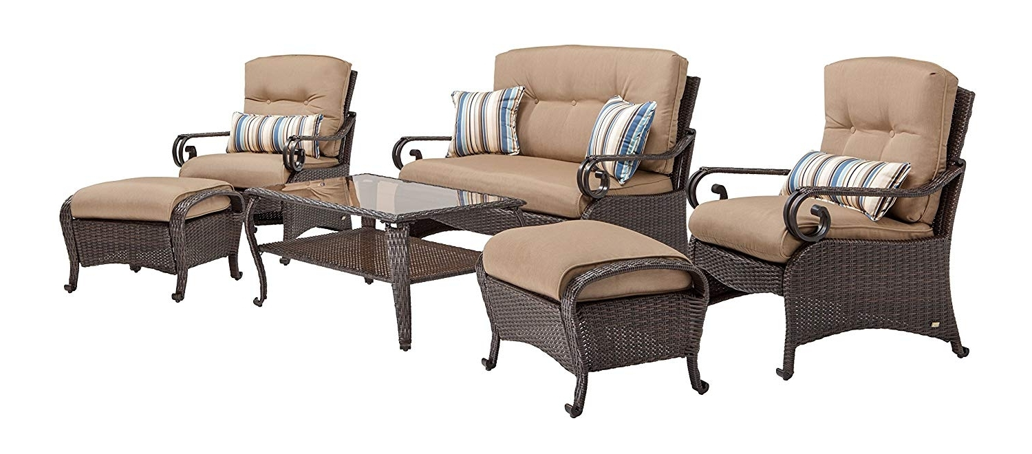 Preferred Lake Como 6 Piece Deep Seating Setla Z Boy Outdoor: Amazon (View 12 of 15)