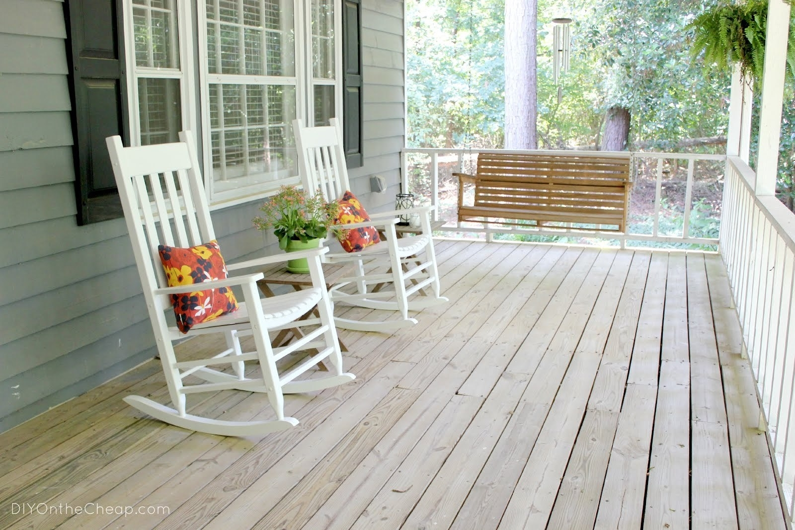 Preferred Rocking Chairs For Front Porch Inside Furniture : Southern Style Rocking Chairs Wicker And Wood Rocking (View 10 of 15)