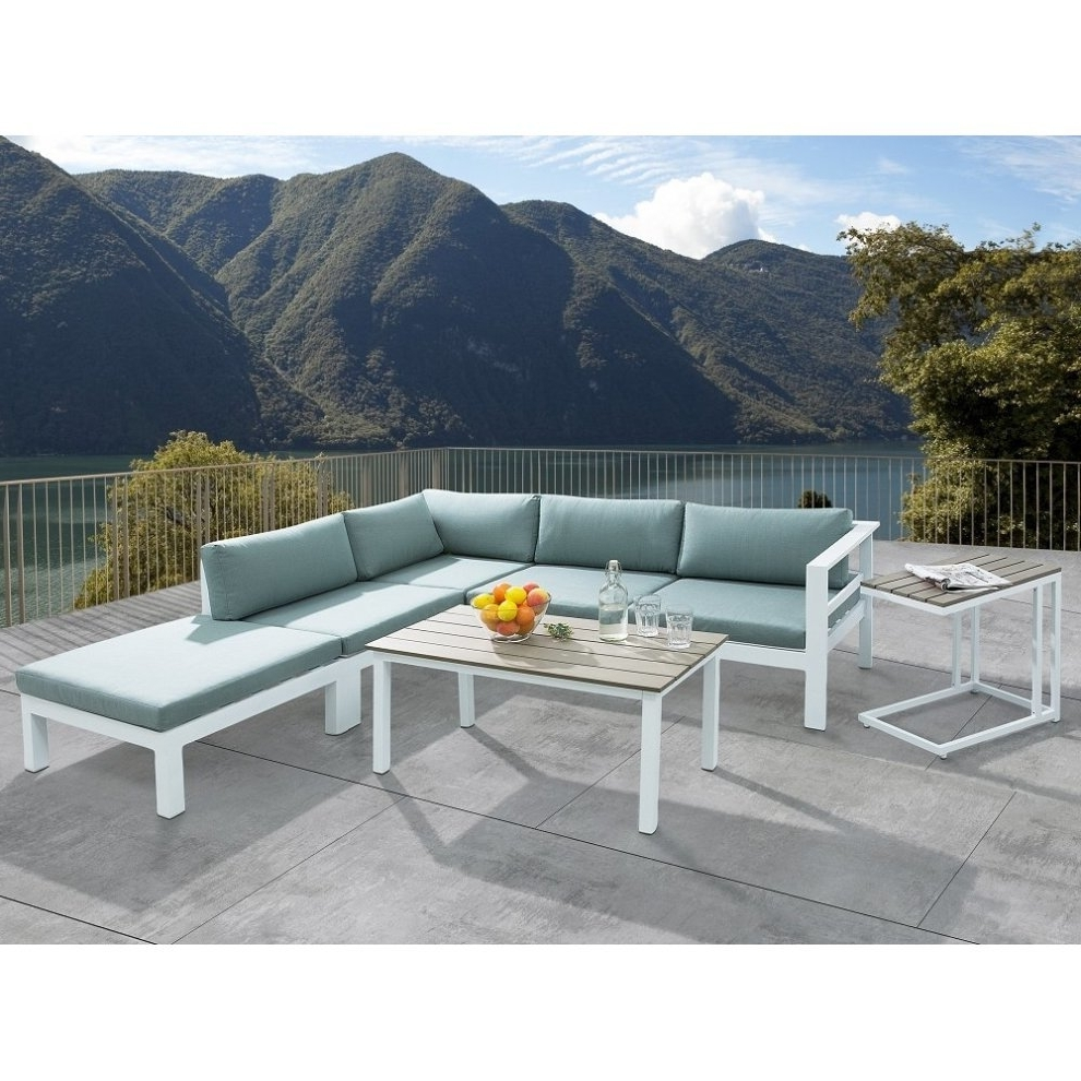 Preferred Sectional Outdoor Sofa Set – 5  Piece Patio Conversation Set With Pertaining To Patio Conversation Sets With Ottomans (View 10 of 15)