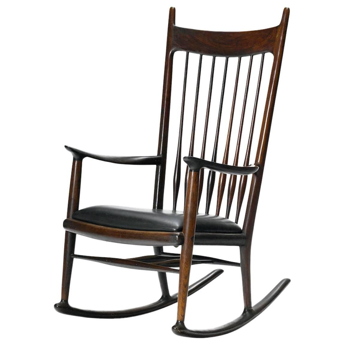 Rare Early Rosewood Rocking Chairsam Maloof For Sale At 1Stdibs Regarding Most Up To Date Rocking Chairs At Sam's Club (View 2 of 15)
