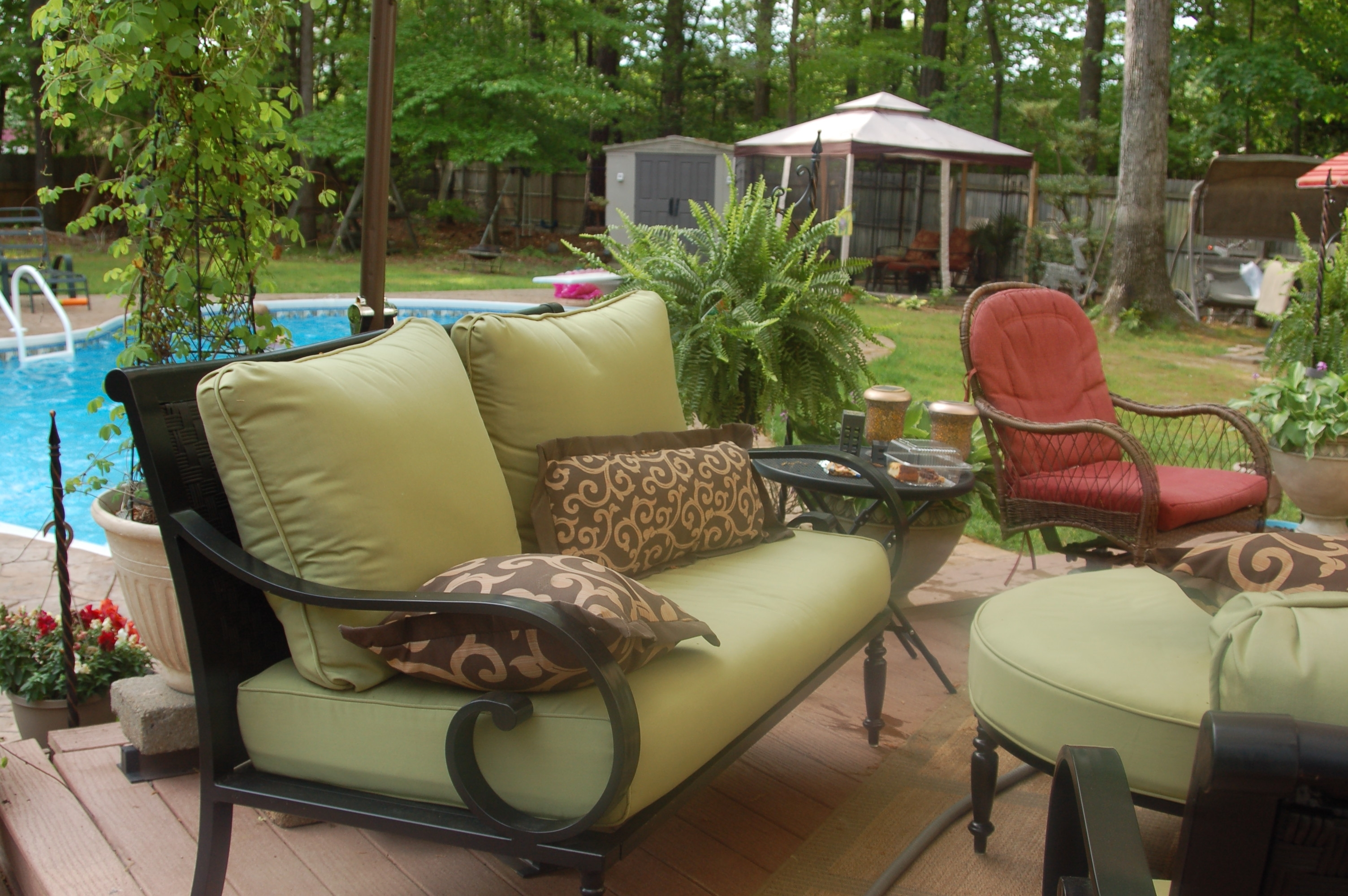 Recent Amazing Of Replacement Patio Cushions Englewood Conversation Set For Patio Conversation Sets With Covers (View 12 of 15)