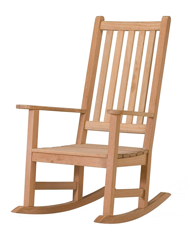 Recent Amazon : Oxford Garden Franklin Shorea Rocking Chair : Patio With Regard To Modern Patio Rocking Chairs (View 10 of 15)