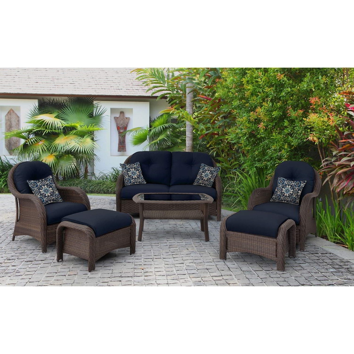 Recent Blue Patio Conversation Sets Throughout Patio : Blue Outdoor And Patio Furniture Bellacor Set Awesome Image (View 11 of 15)