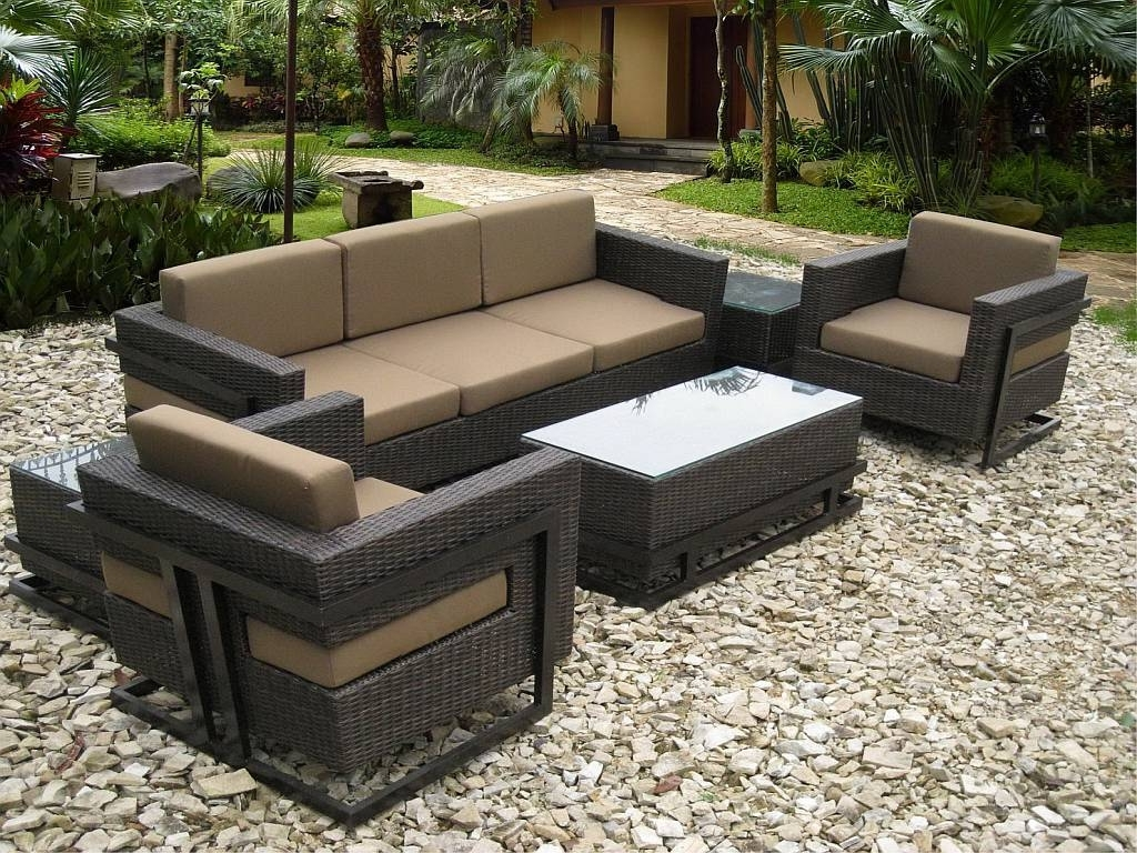 Recent Conversation Chairs Walmart Outdoor Furniture Patio Set Accent Within Patio Conversation Sets With Ottomans (View 11 of 15)