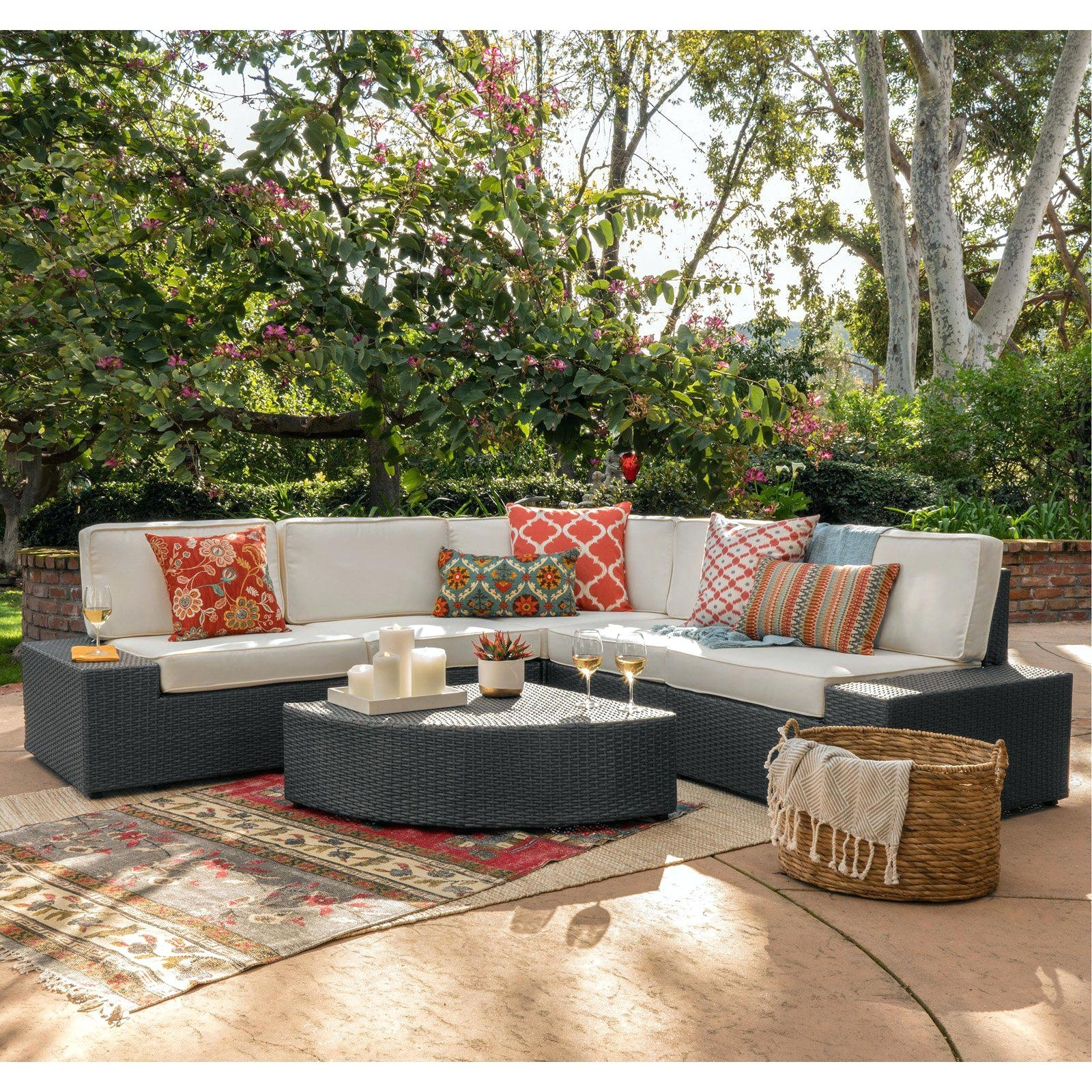 Recent Hayneedle Patio Conversation Sets Intended For Hayneedle Patio Furniture Coral Coast Furniture Wicker 6 Piece Patio (View 3 of 15)