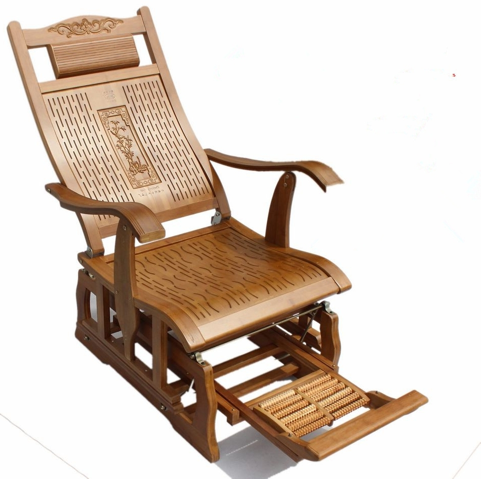Recent Rocking Chairs For Adults with Modern Bamboo Rocking Chair Adult Glider Rocker Natural Bamboo