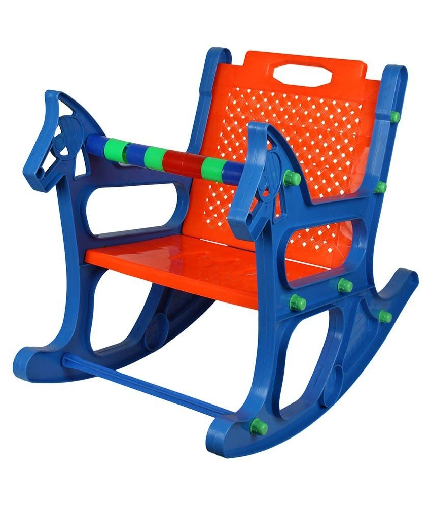 Recent Rocking Chairs For Babies Throughout Ajanta Blue Baby Rocking Chair – Buy Ajanta Blue Baby Rocking Chair (View 9 of 15)