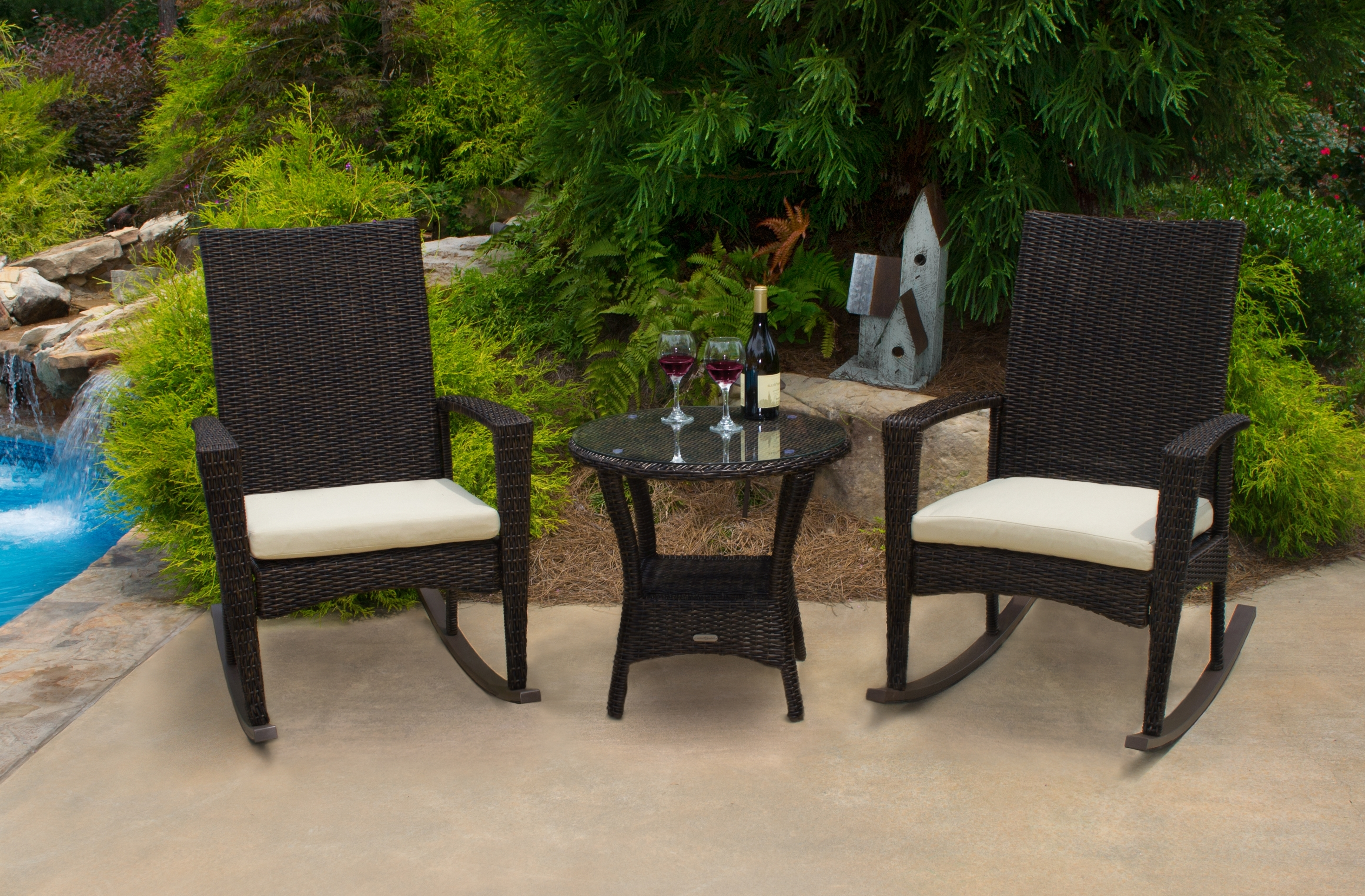 Recent Rocking Chairs – Tortuga Outdoor Of Georgia – Alpharetta In Wicker Rocking Chairs Sets (View 3 of 15)