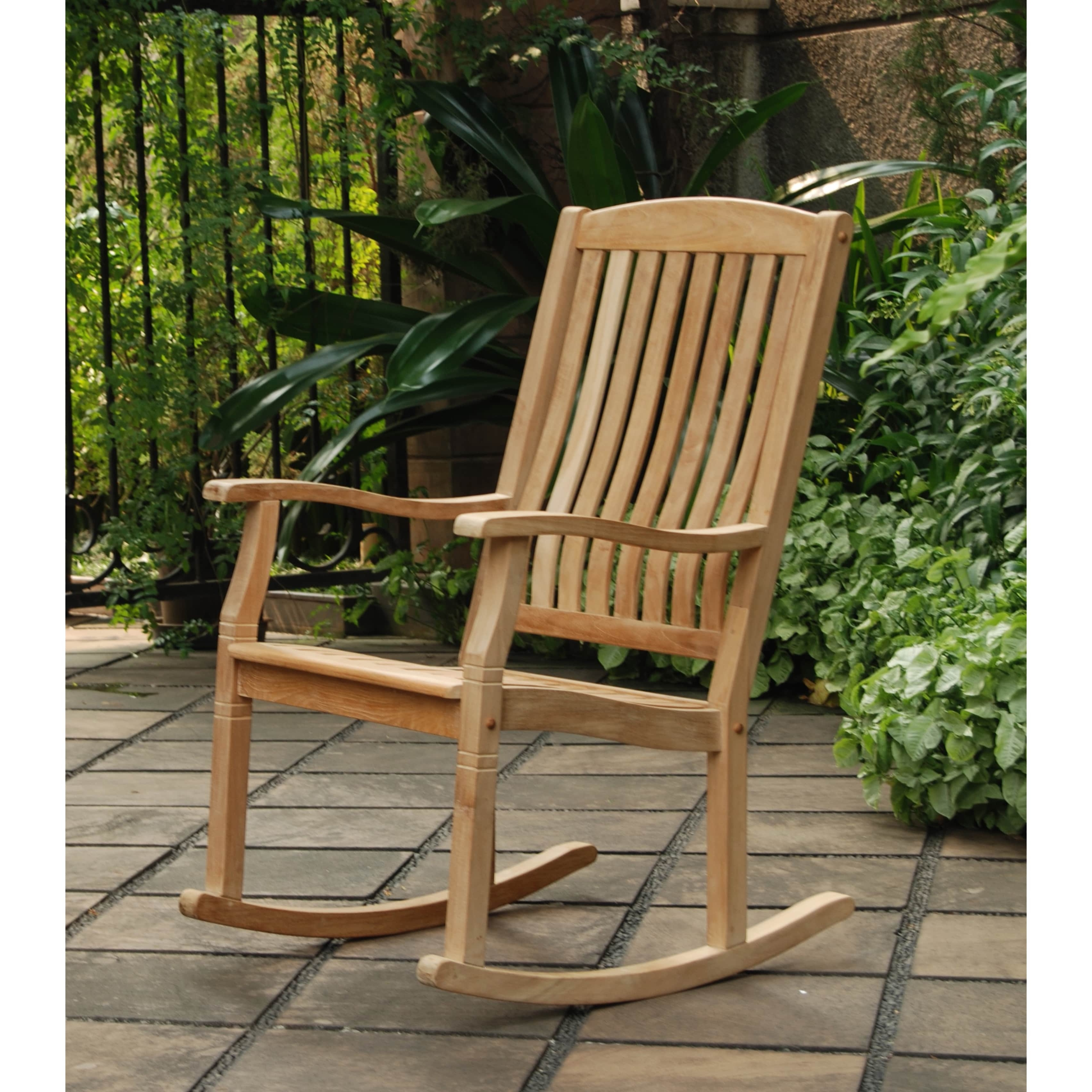 Recent Shop Cambridge Casual Sherwood Natural Teak Porch Rocking Chair For Teak Patio Rocking Chairs (View 8 of 15)