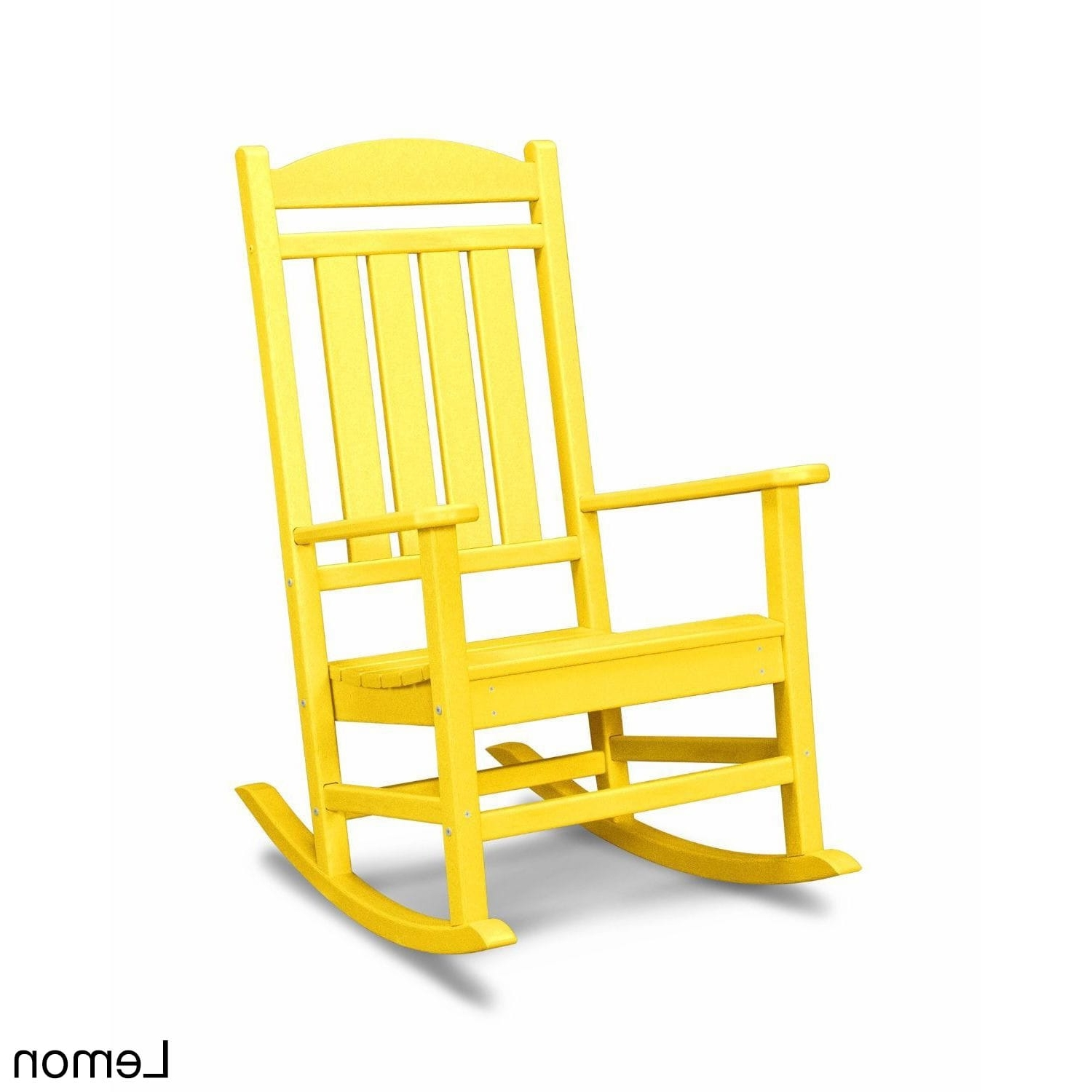 Recent Shop Polywood Presidential Outdoor Rocking Chair – Free Shipping With Regard To Yellow Outdoor Rocking Chairs (View 8 of 15)