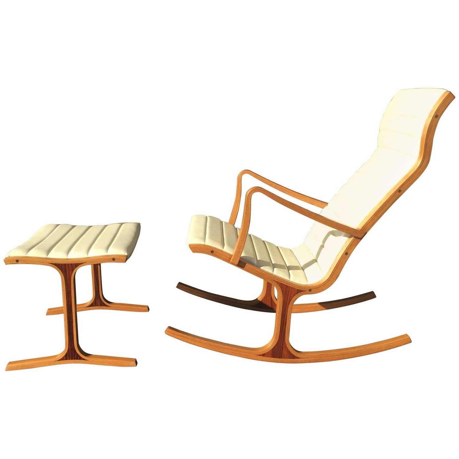 Recent Tendo Mokko Heron Rocking Chair And Footrest For Kosuga Japan At 1Stdibs With Regard To Rocking Chairs With Footrest (View 6 of 15)
