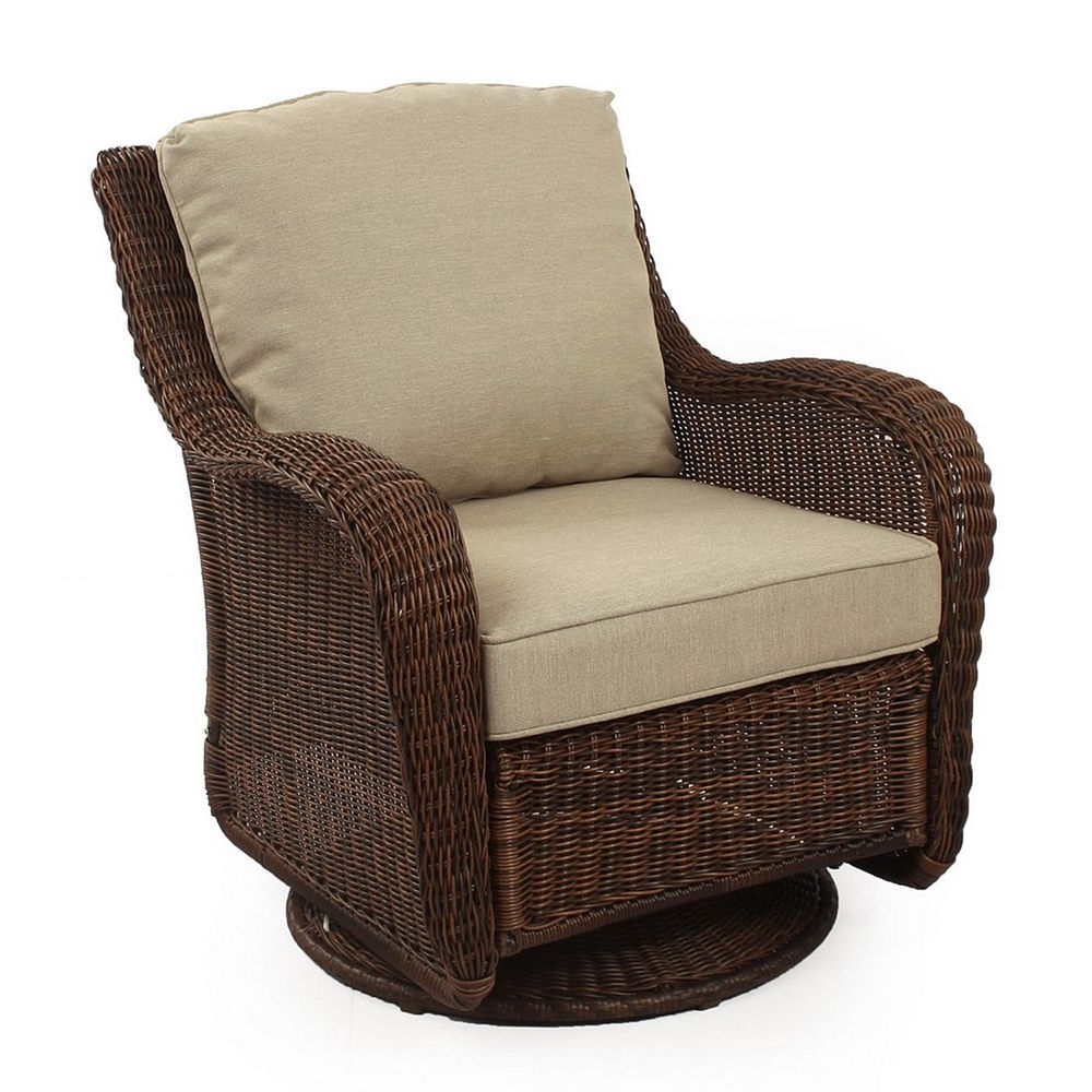 Recent Wicker Rocking Chairs And Ottoman Intended For Swivel Rocking Chairs For Patio Outdoor Goods Resin Wicker Swivel (View 8 of 15)