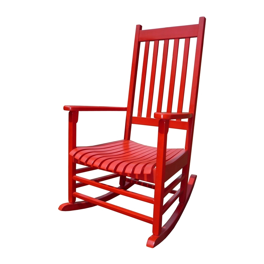 Red Patio Rocking Chairs For Most Popular Shop International Concepts Acacia Rocking Chair With Slat Seat At (View 2 of 15)