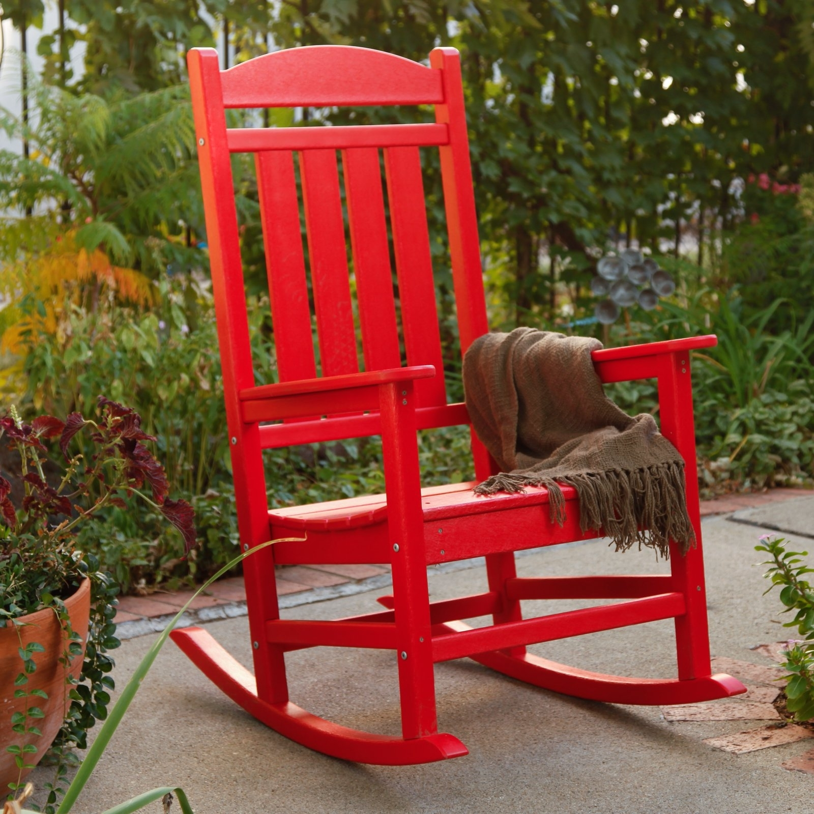 Red Patio Rocking Chairs With Regard To Well Known Polywood® Presidential Recycled Plastic Rocking Chair – Walmart (View 8 of 15)