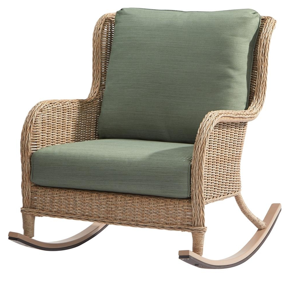 Resin Wicker Rocking Chairs Intended For Widely Used Awesome Wicker Rocking Chair Home Depot F47X In Most Fabulous (View 11 of 15)