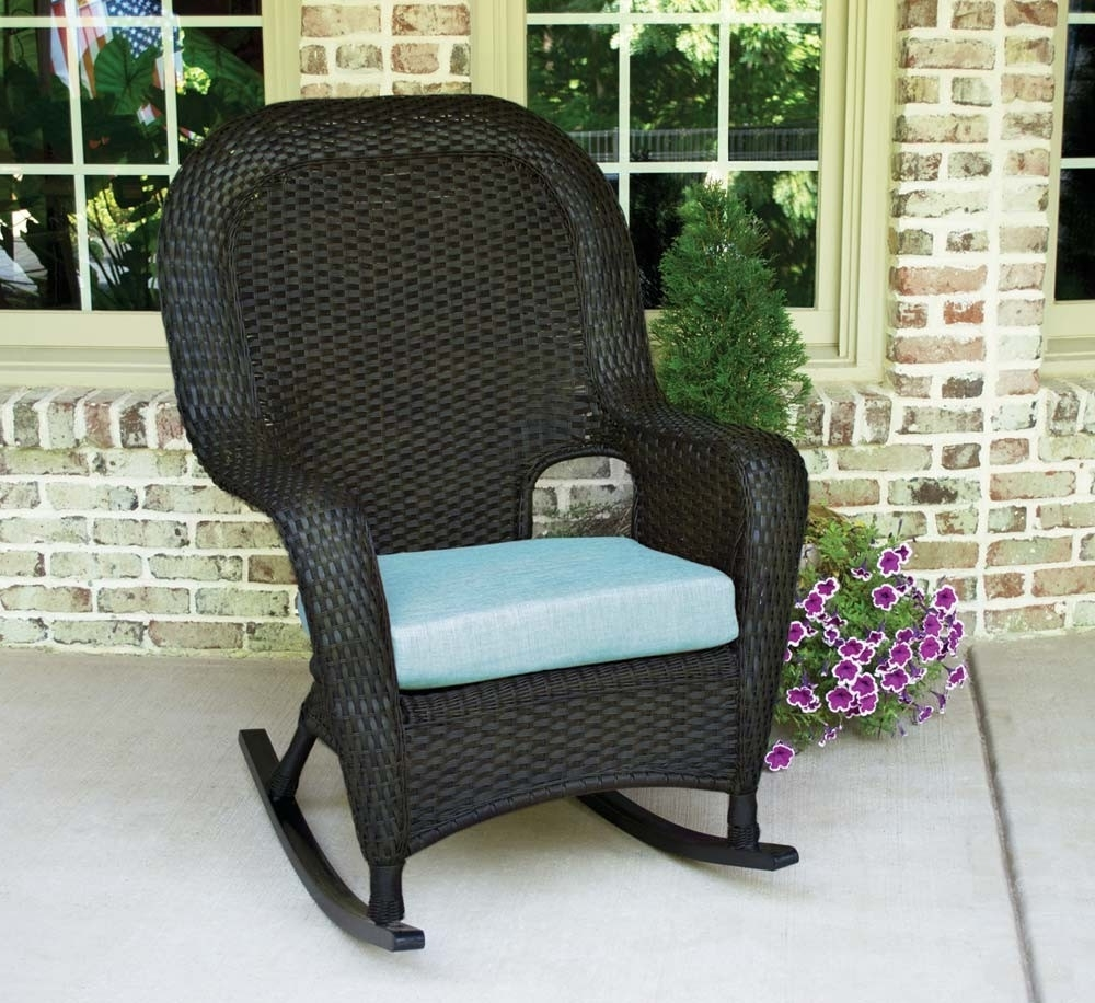 Resin Wicker Rocking Chairs Regarding Most Up To Date Tortuga Outdoor Lexington Wicker Rocker – Wicker (View 10 of 15)