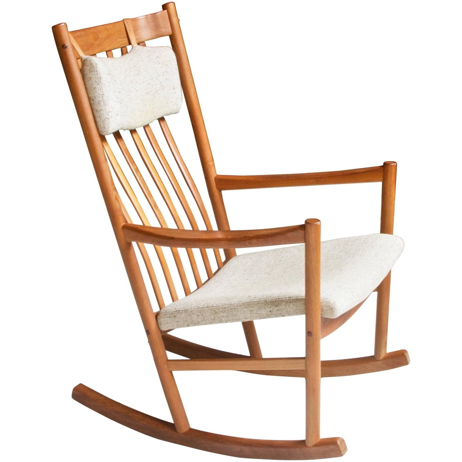 Retro Rocking Chairs For Fashionable Pair Of Vintage Rope Seat Rocking Chairs For Sale At 1Stdibs (View 6 of 15)