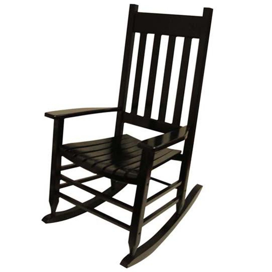 Rocking Chair Design Lowes Rocking Chair Black Painted Black And Within Most Recent Lowes Rocking Chairs (View 11 of 15)
