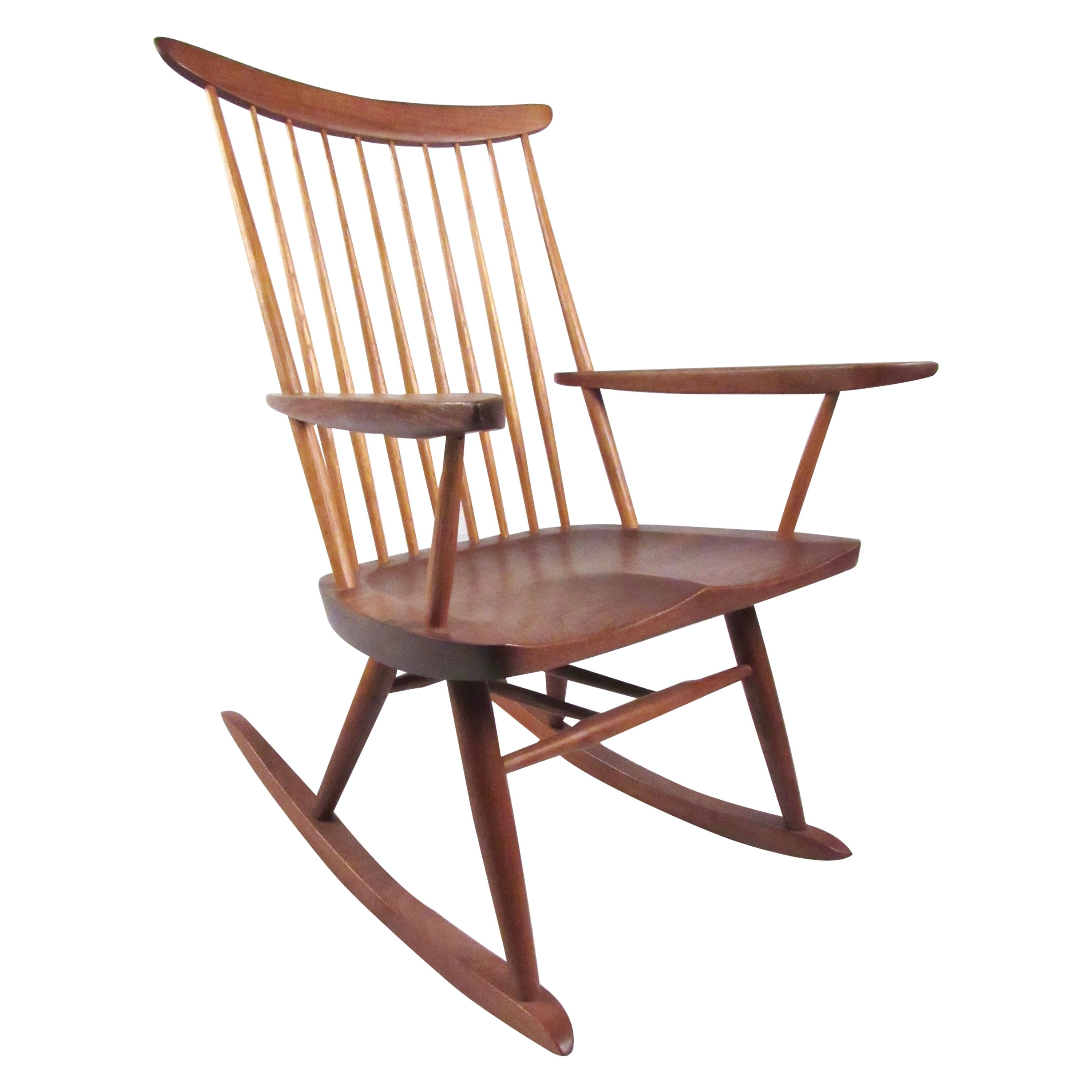 Rocking Chair With Free Edge Armgeorge Nakashima For Sale At 1Stdibs Within Fashionable Zen Rocking Chairs (View 8 of 15)