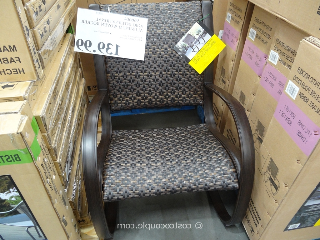 Rocking Chairs At Costco Regarding Most Recently Released Wonderful Patio Chairs Costco Agio International Aluminum Woven (View 14 of 15)