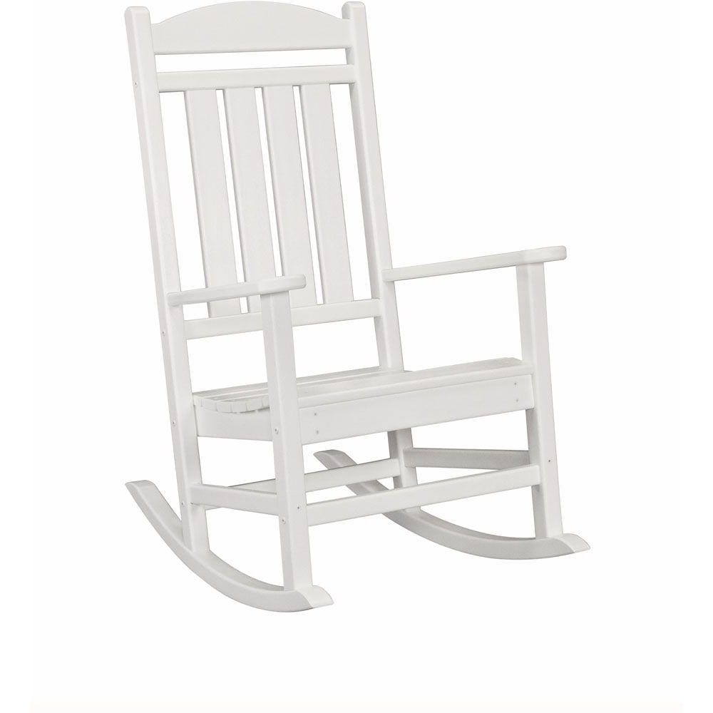 Rocking Chairs At Home Depot Throughout Most Up To Date Weather Resistant – Rocking Chairs – Patio Chairs – The Home Depot (View 11 of 15)