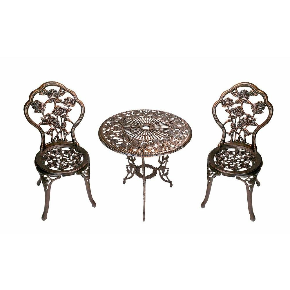 Rocking Chairs At Roses For Most Recent Oakland Living Rose 3 Piece Patio Bistro Table Set 3705 Ab – The (View 14 of 15)