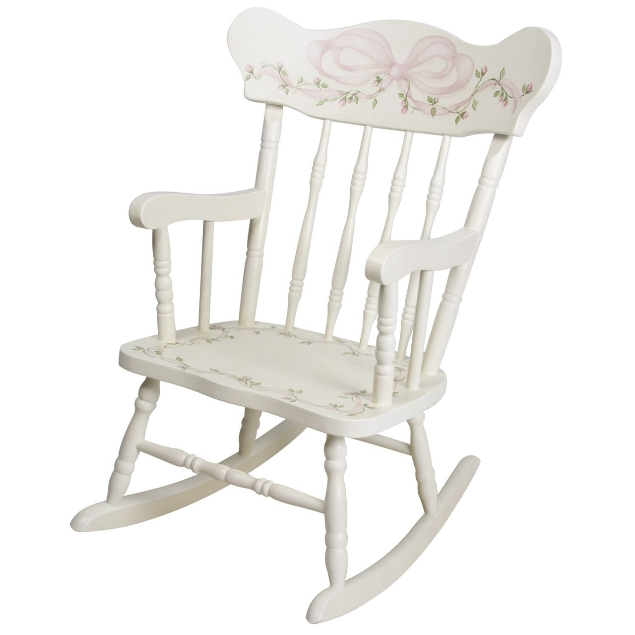 Rocking Chairs At Roses With Regard To Popular Afk Furniture – Child's Rocking Chair Ribbons And Roses, $ (View 11 of 15)