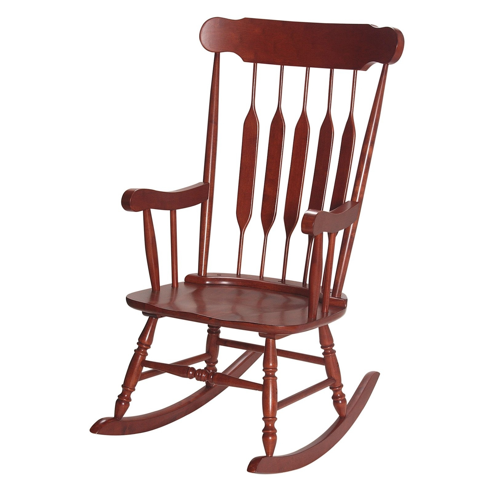Rocking Chairs For Adults With Recent Gift Mark Mission Style Wooden Rocking Chair With Upholstered Seat (View 3 of 15)