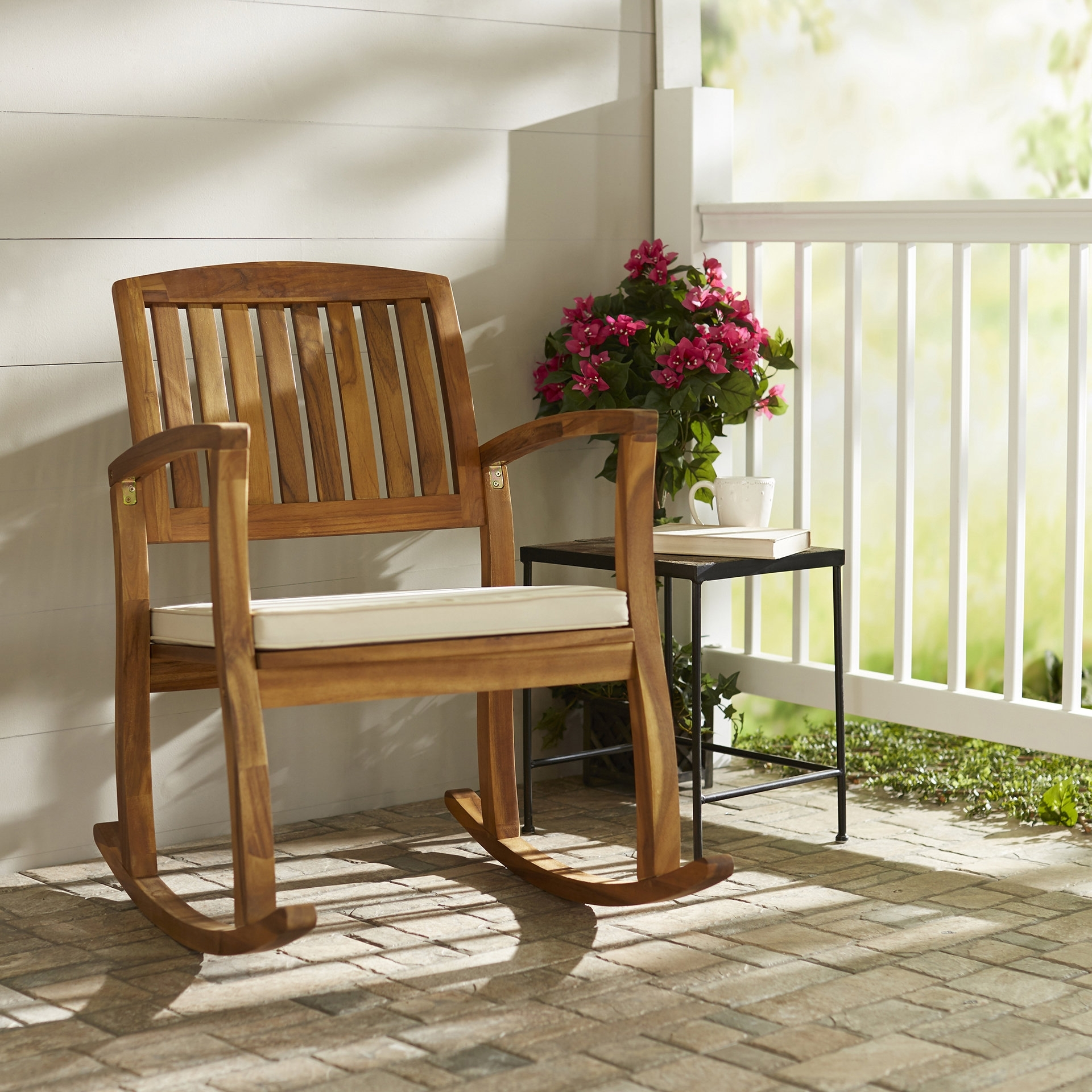 Rocking Chairs For Adults With Regard To Famous Highland Dunes Kairi Rocking Chair With Cushion & Reviews (View 14 of 15)