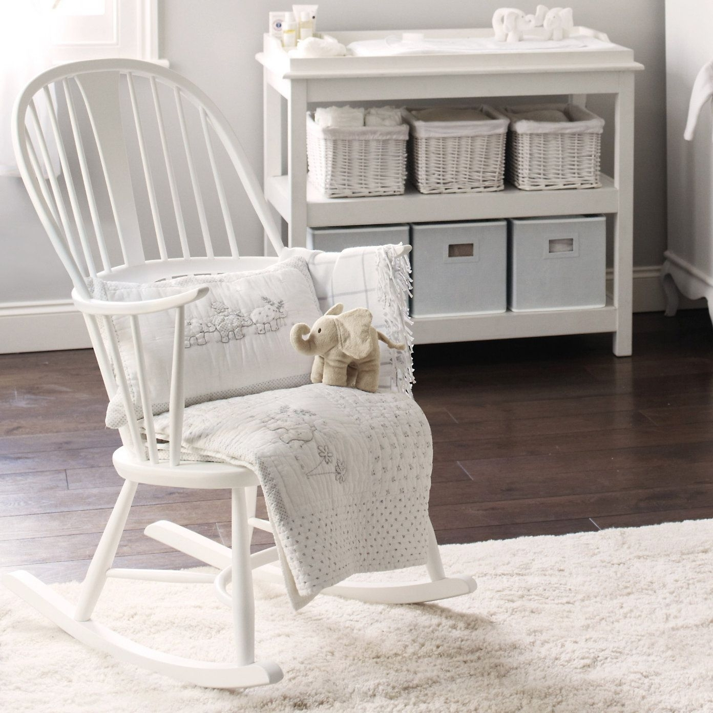 Rocking Chairs For Baby Room In 2017 Buy Lookbooks > Home > Ercol Rocking Chair – White From The White (View 13 of 15)
