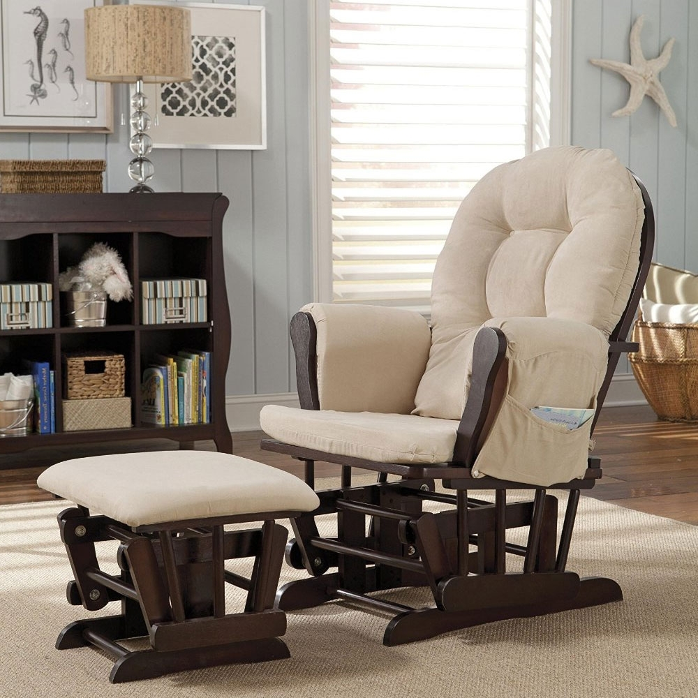 Rocking Chairs For Nursing In Best And Newest Ottomans : Bedroom Furniture Rocking Chair With Ott Nursery Double (View 6 of 15)