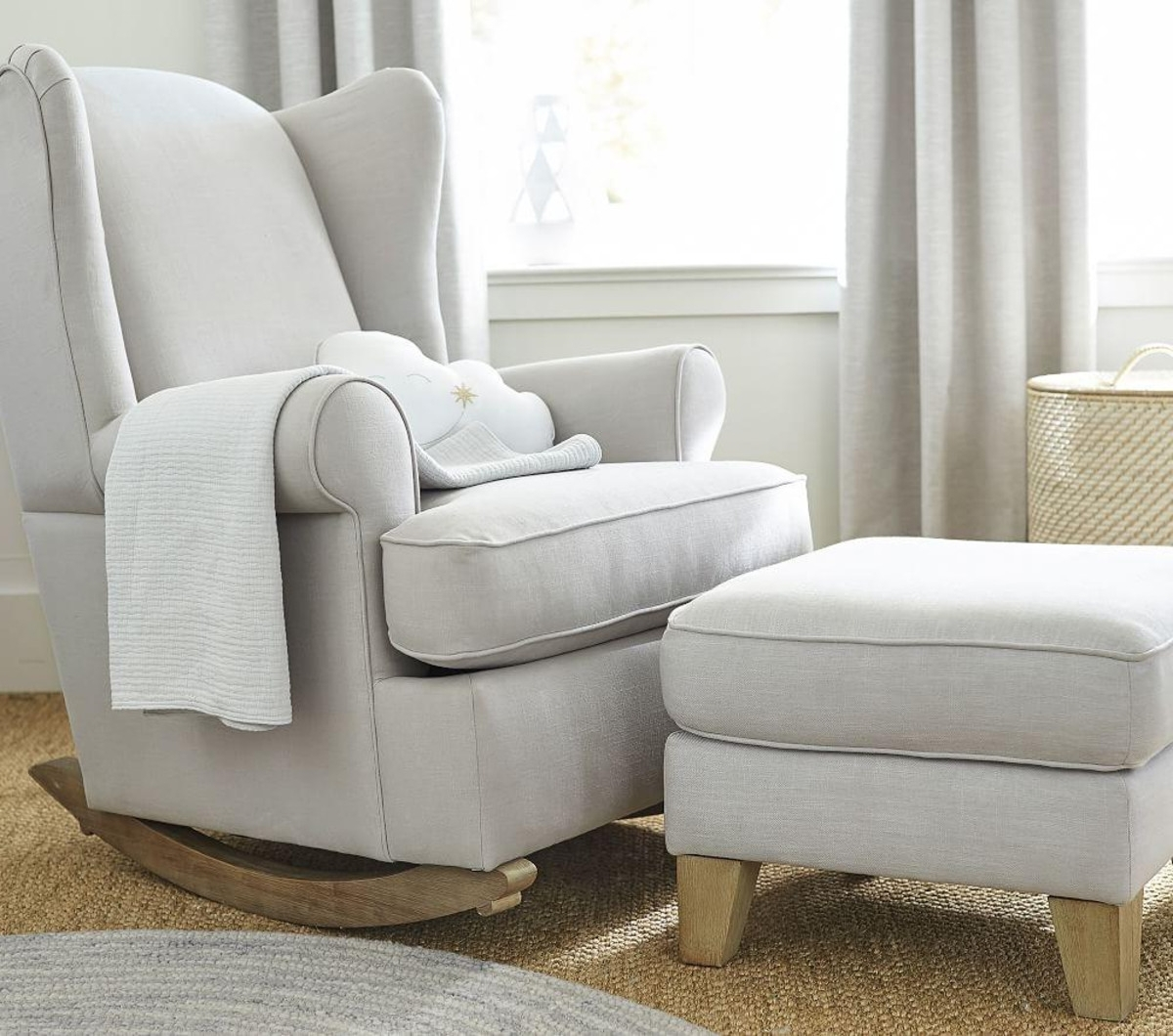 Rocking Chairs For Nursing Intended For Latest Ottomans : Rocking Chair Ottoman The Best Feeding And Nursing Chairs (View 10 of 15)