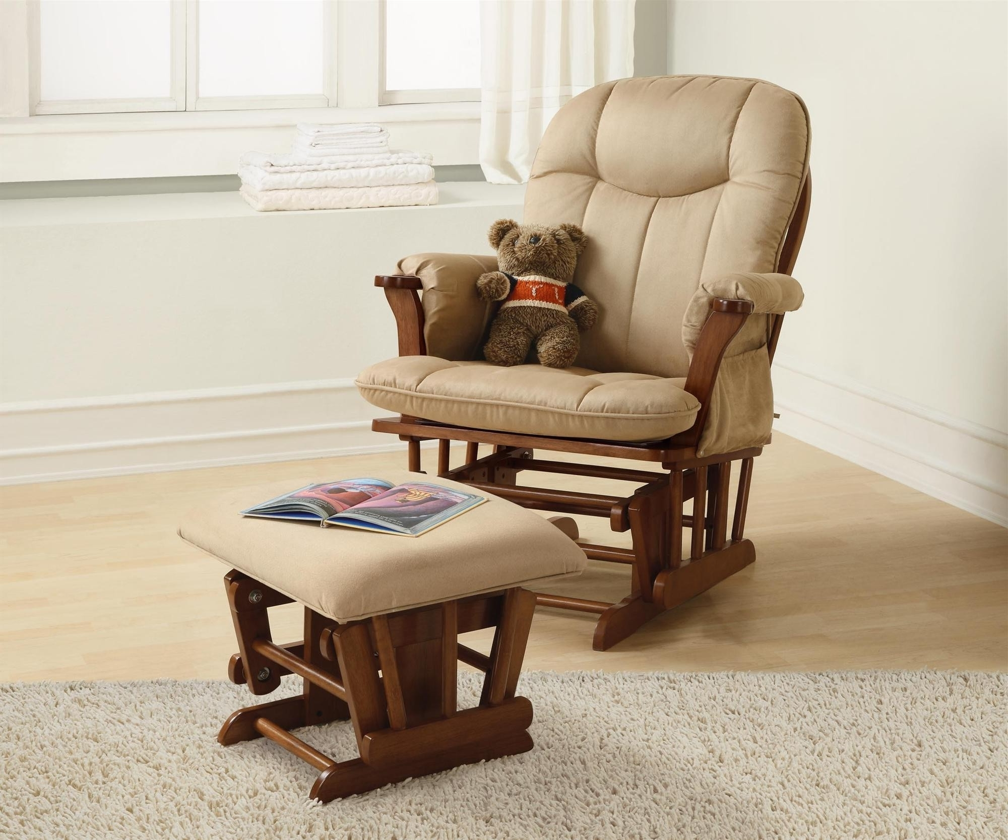 Rocking Chairs For Nursing Pertaining To Most Up To Date Ottomans : Nursery Rocking Chair Walmart New Ottomans Glider Rocker (View 14 of 15)