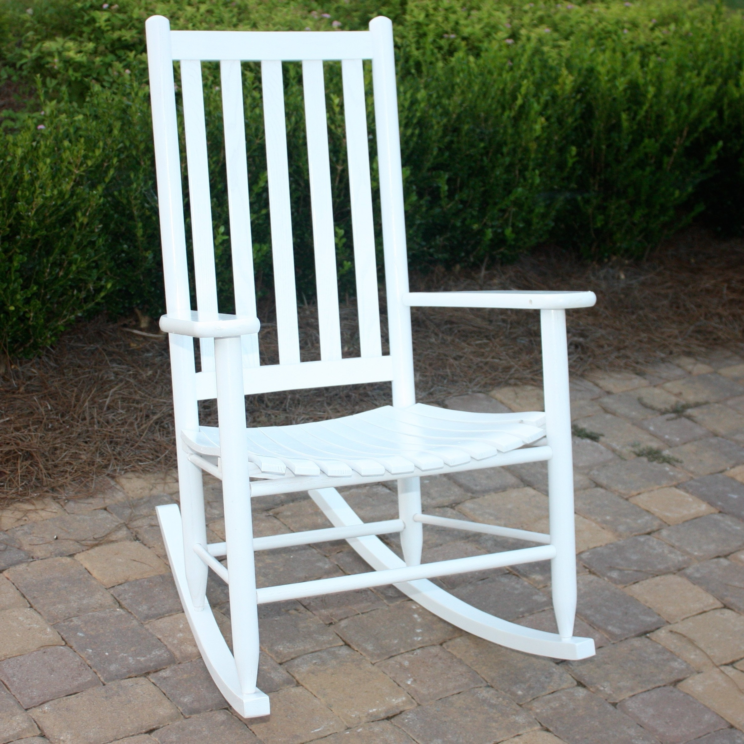 Rocking Chairs For Outdoors Throughout Most Recently Released Dixie Seating Georgetown Hickory Outdoor Slat Rocking Chair (View 6 of 15)