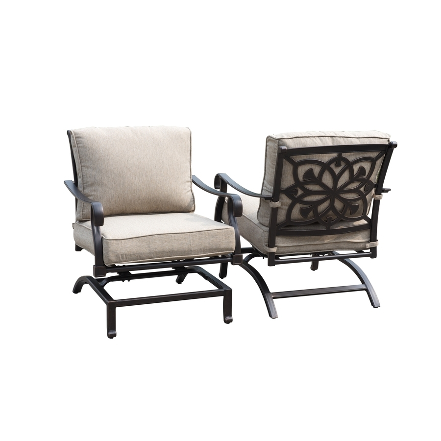 Rocking Chairs For Patio Throughout 2017 Authentic Outdoor Furniture Swivel Rocking Chairs Patio Aluminium (View 8 of 15)