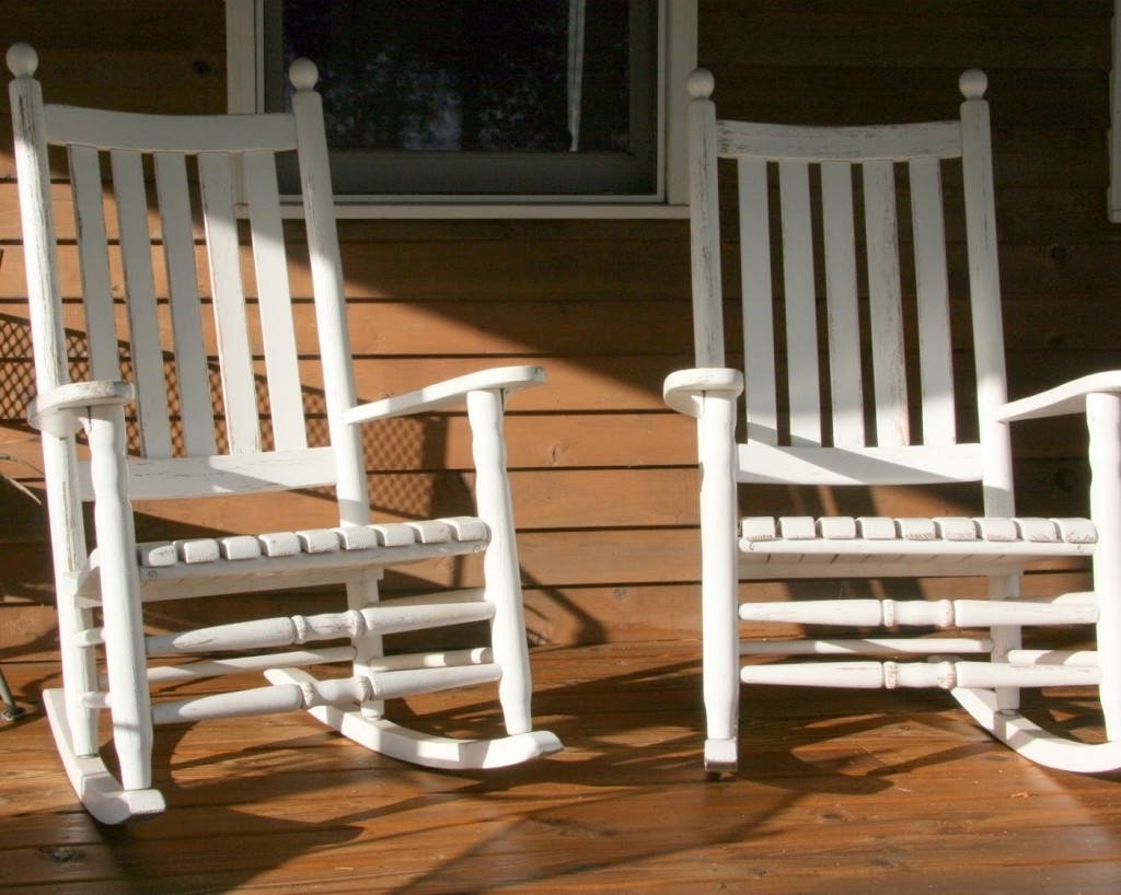 Rocking Chairs For Porch Pertaining To Most Popular Outdoor Front Porch Rocking Chairs — Front Porch Light : Simplest (View 11 of 15)