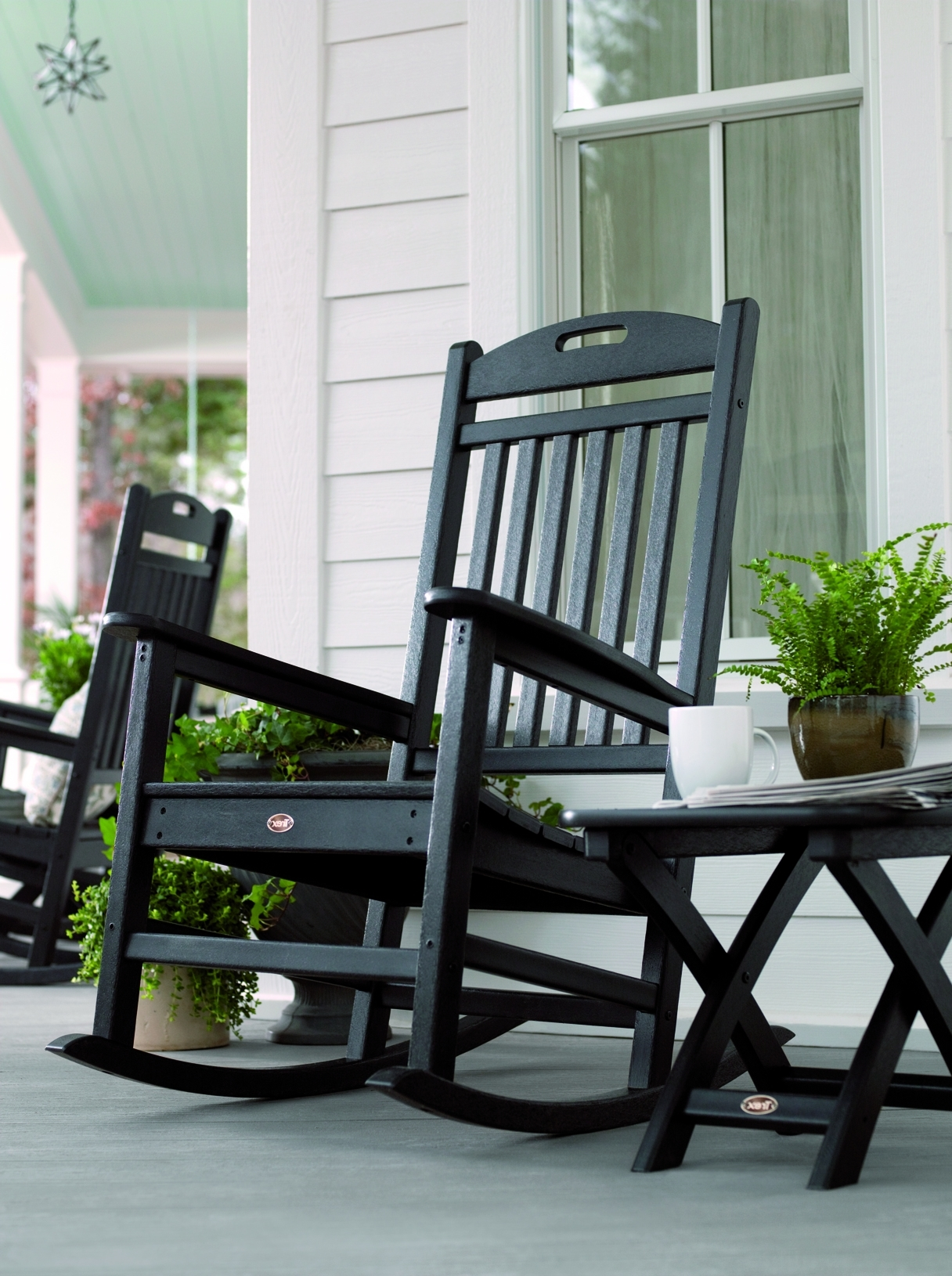 Rocking Chairs For Porch With Regard To Well Liked Elegant Porch Rocking Chairs Ideas F20X About Remodel Most (View 4 of 15)