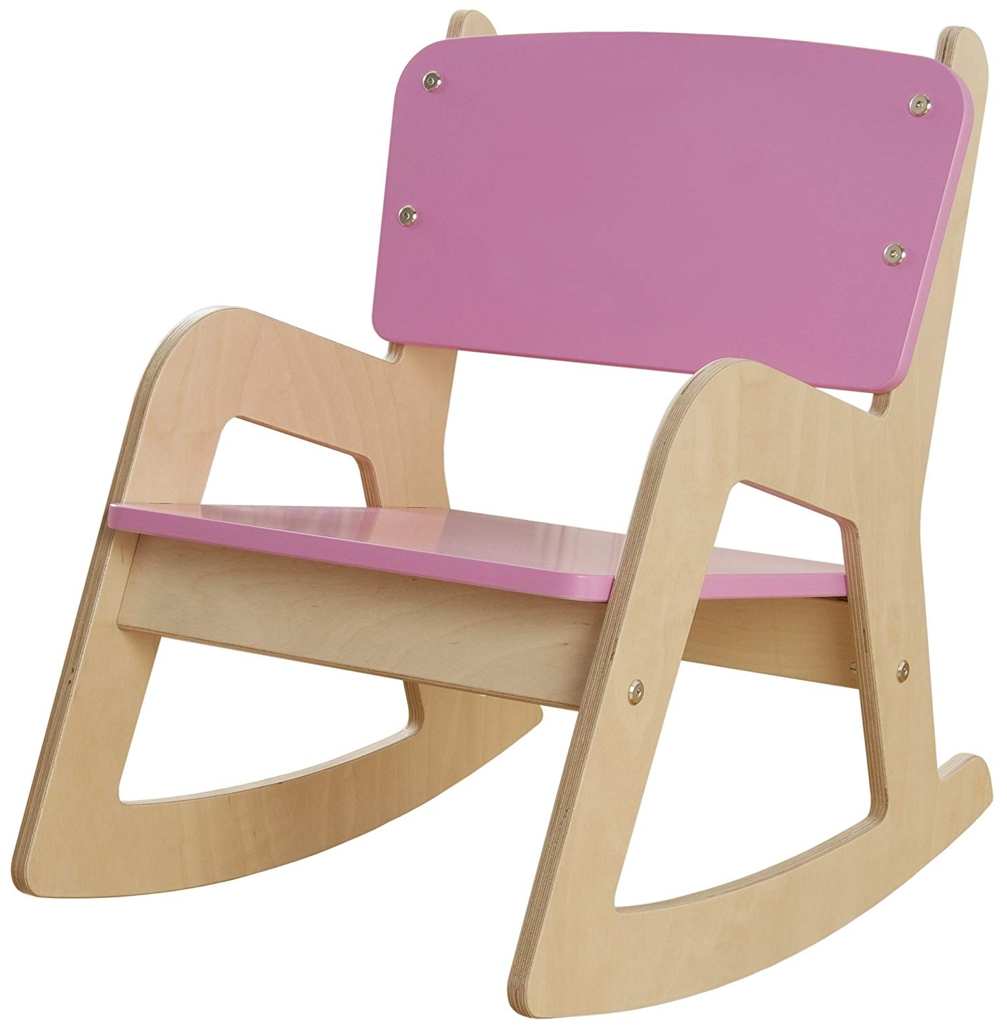 Rocking Chairs For Toddlers Within Preferred Millhouse Children's Wooden Rocking Chair (Pink): Amazon.co (View 13 of 15)